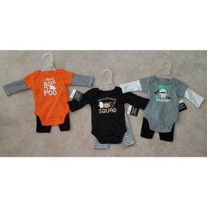NWT 3 Halloween Baby Outfit Lot NB, 0-3m, 3-6m